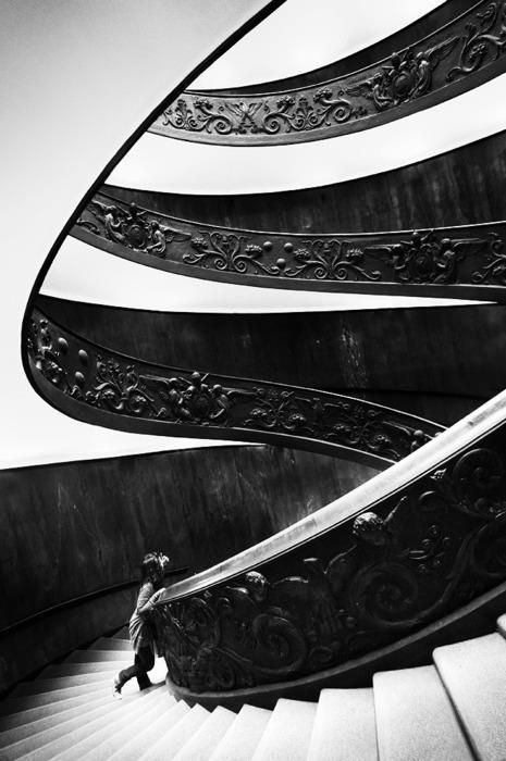 Stairs in the Vatican Designed to be so wide and shallow, that the Swiss Guard could ride their horse up the stairs to protect the Pope.