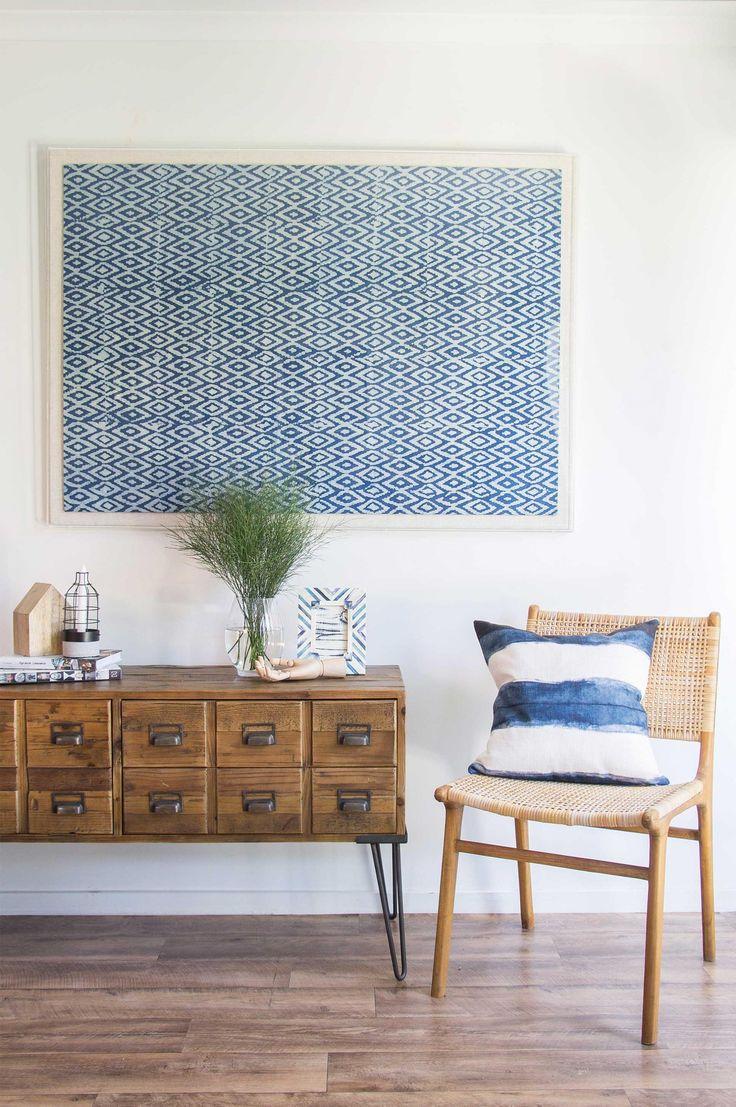 Loomology的手工纺织品系列,来自印度和非洲,在澳大利亚设有框架。