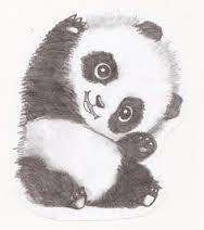 如何画一只可爱的熊猫!!!!!