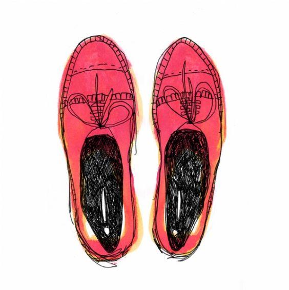 #shoes #illustration #color #Carole Wilmet