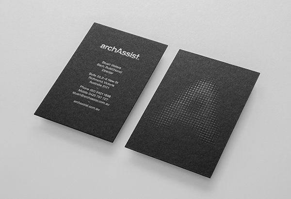 Arch Assist #businesscards #branding #black