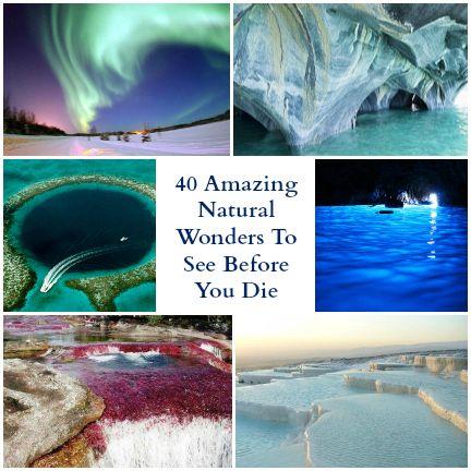 自然界的40个奇迹。这个星球上最惊人的景点和自然现象的列表!