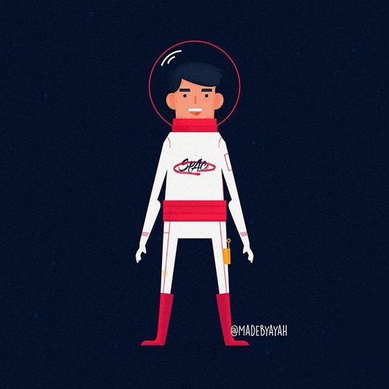 Space boy 🚀 . . . #illustrator #designer #dailydoodle #cartoons #photoshop #illustrations #drawing #infographic #animation #vectorart #flatillustration #vector #childrensbooks #kidsillustration #رسوم #مصممين #انفوجرافيك #انيميشن