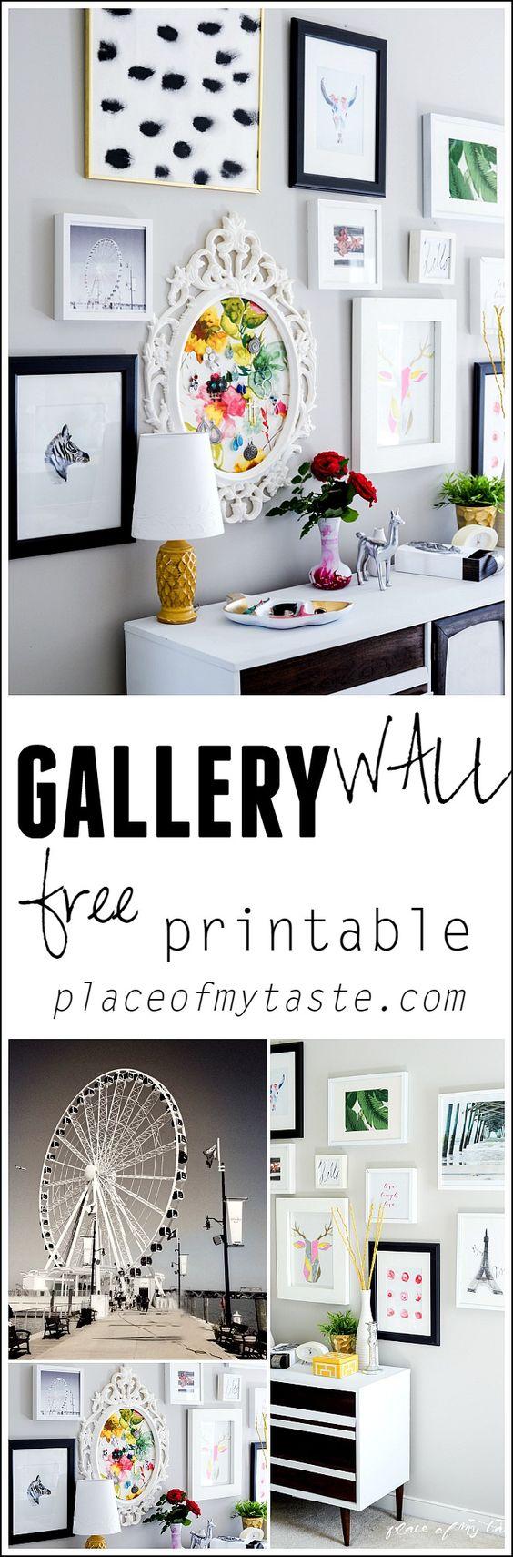 有趣的画廊墙,免费打印。