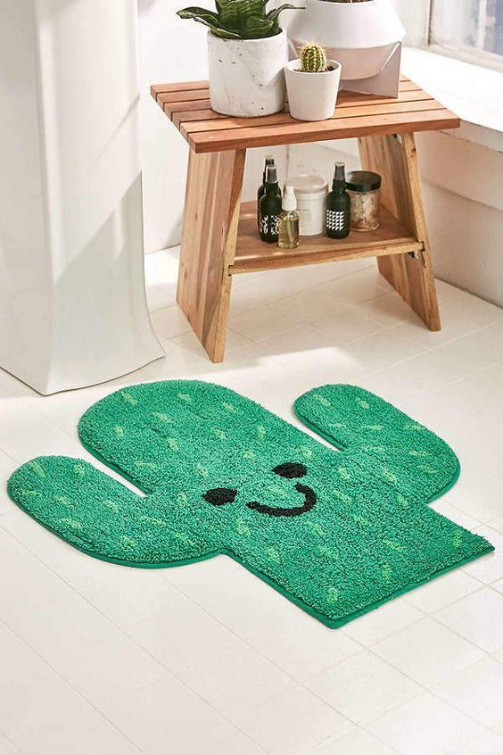 Urban Outfitters仙人掌浴垫波西米亚,波希米亚家居装饰,浴室装饰