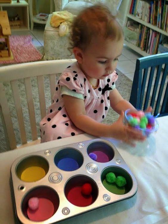 DIY色轮,为幼儿教授色彩,幼儿色彩活动,许多伟大的教学方式,幼儿活动