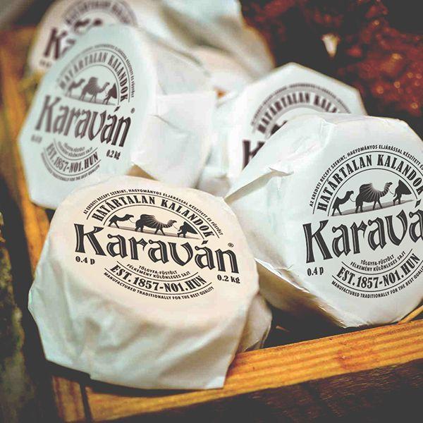 标志,品牌,包装 - 由Adam Boros在Behance上的Karavan奶酪。 Karaván是匈牙利最着名的奶酪品牌。 PD