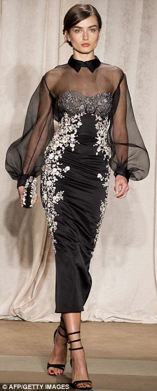 Marchesa shows red carpet-ready gowns inspired by 17th-century romanticism at Fashion Week - just in time for the Oscars