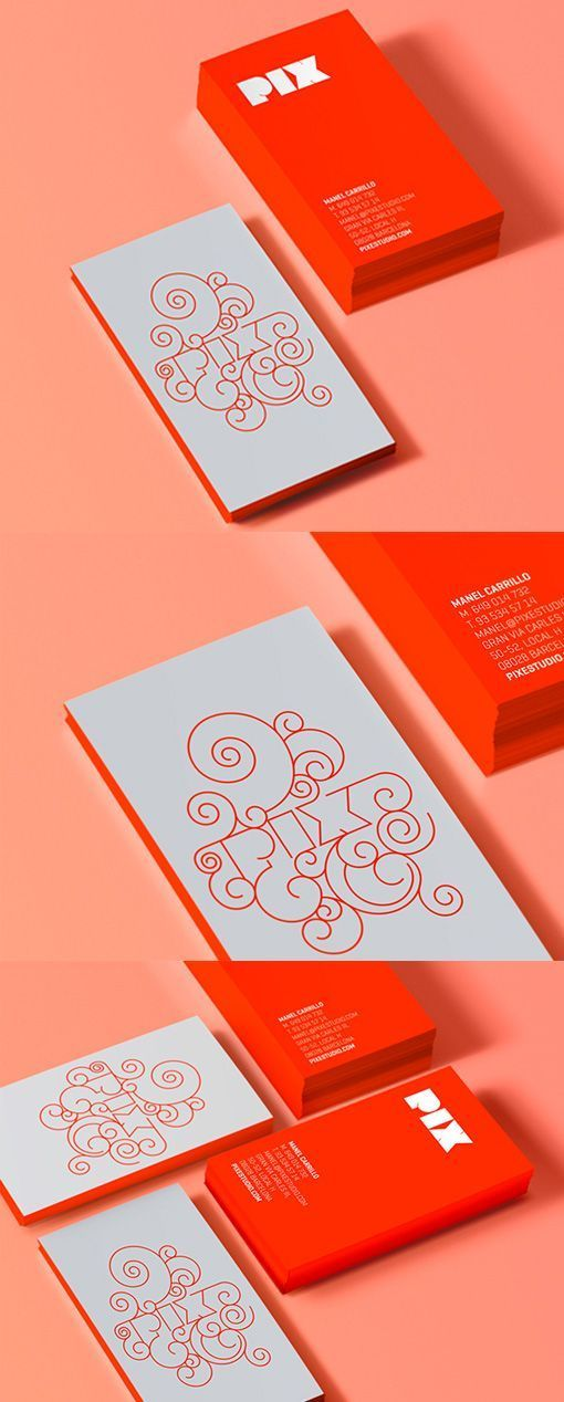 Dynamic Logo On A Red And White Edge Painted Business Card Design #businessbranding