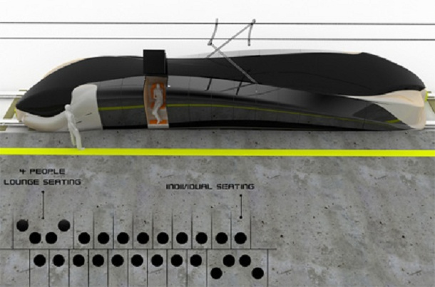 future train with individual capsule but not for long journey