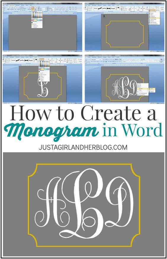 了解如何在Word中创建Monogram!