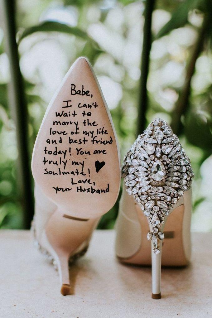 从丈夫到妻子的情书在婚礼鞋子想法