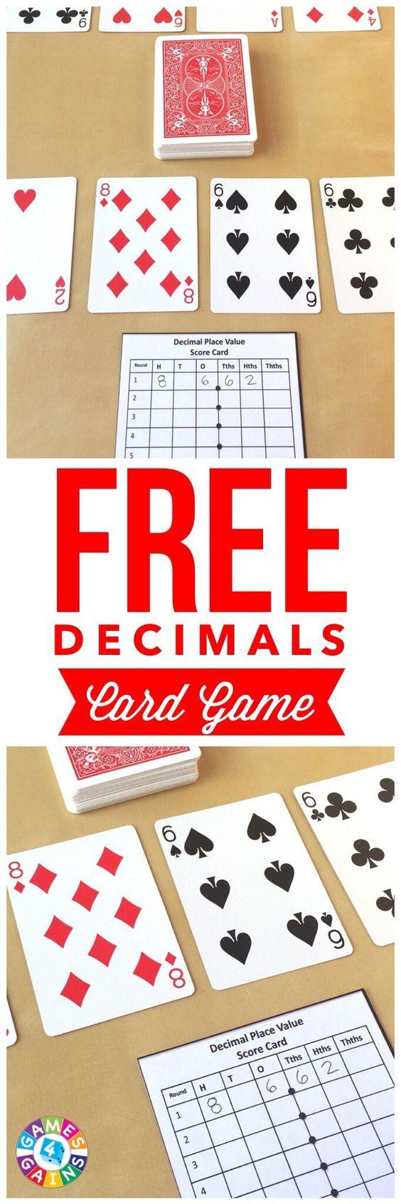 在这个快速简便的小数值游戏中,学生们使用扑克牌相互竞争以形成最高十进制数。