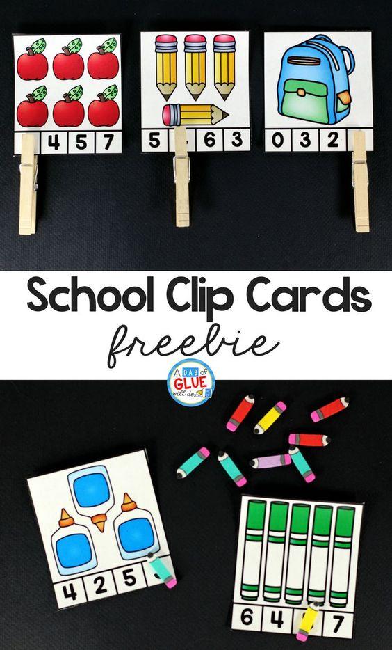 我总是喜欢为我的学生在学校的前几周进行有趣的实践活动。这张School Clip Cards Printable是让学生重新回到学校日常生活中的好方法,同时还可以查看数字和精细动作技能。学校剪辑卡Printable是伟大的数学活动,供学生练习...
