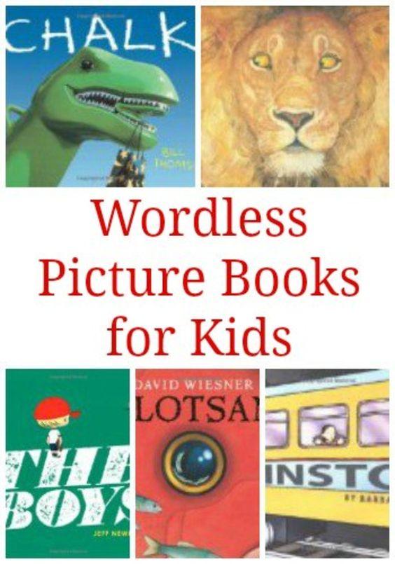 儿童无言的图画书:一本精彩的名单,里面没有任何让孩子讲述故事的单词。
