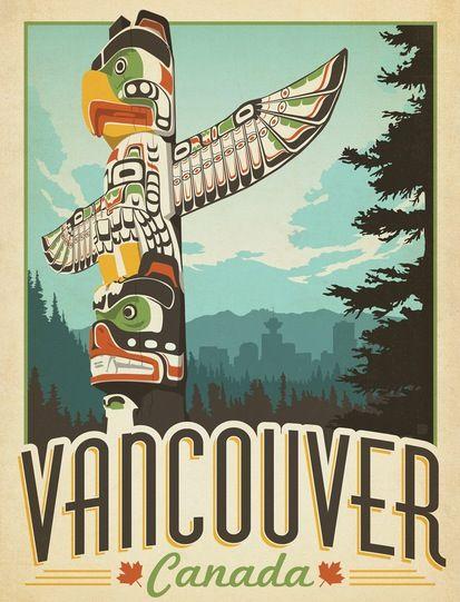 世界旅行不再为精英而保留。在温哥华的护照上印上复古风格的印花,将20世纪中叶的浪漫与旅行融为一体。拥有深沉的色彩,精心制作的文字和富有戏剧性的视角,这幅安德森设计集团的海报散发着这个盛大旅行时代的个性。