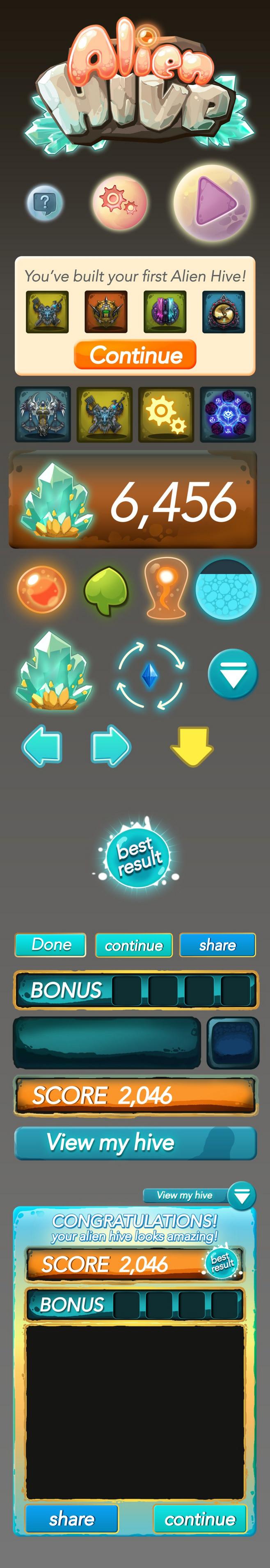 Some mobile game UI design