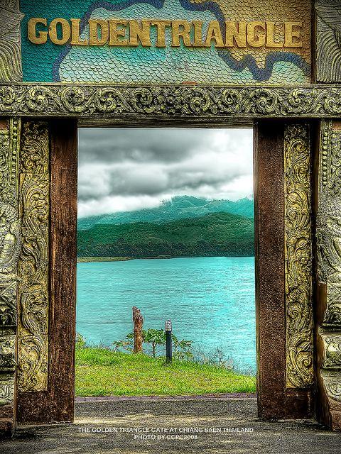 清泰,泰国北部清莱的金三角门