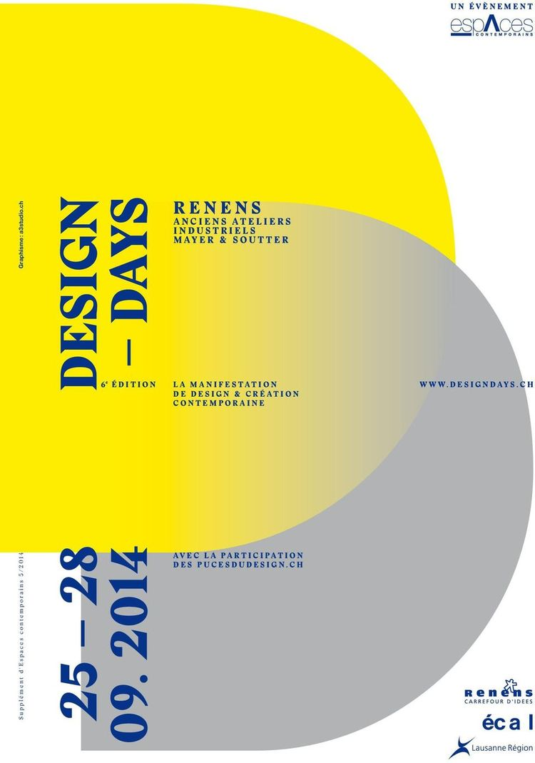 Design Days Poster for ECAL