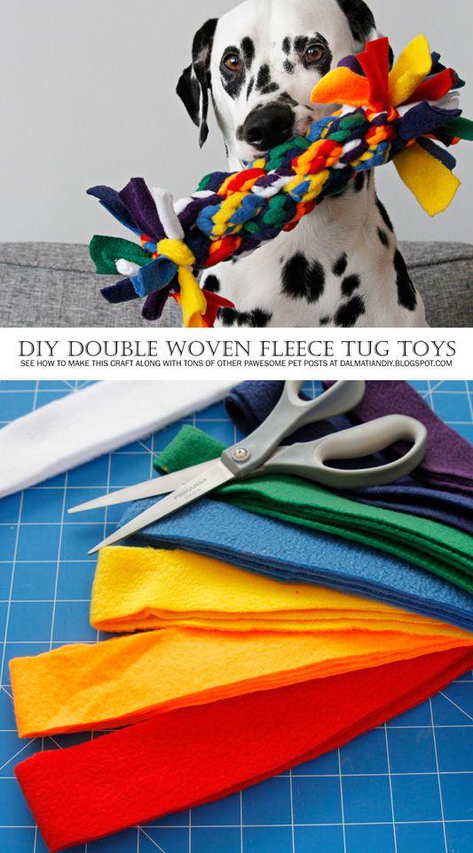 DIY编织的狗拖轮玩具编织的DIY狗拖轮玩具?哦,是的,我们确实!以下是它的制作过程!