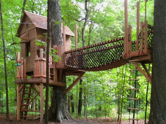 鼓舞人心的孩子树屋设计,将使你想今天建立一个