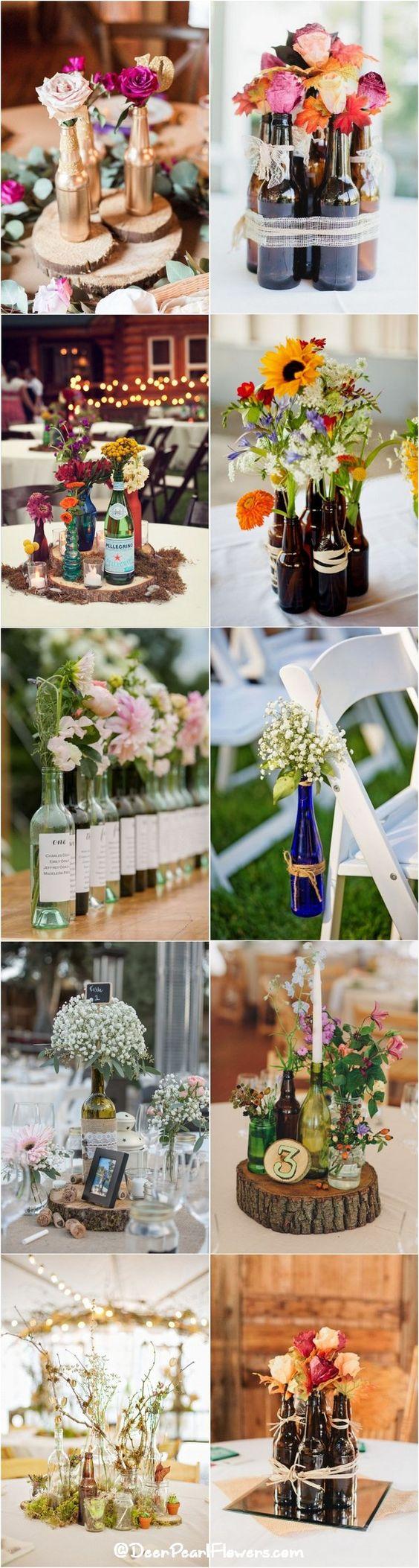 下面,你应该完全为你的葡萄园婚礼窃取20瓶酒装饰的想法。如果你想要参加DIY项目,拿起一些喷漆罐,并活着空酒瓶。如果你正在混音...