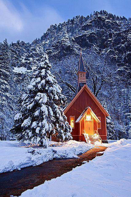 优胜美地谷教堂,约塞米蒂国家公园,加利福尼亚
