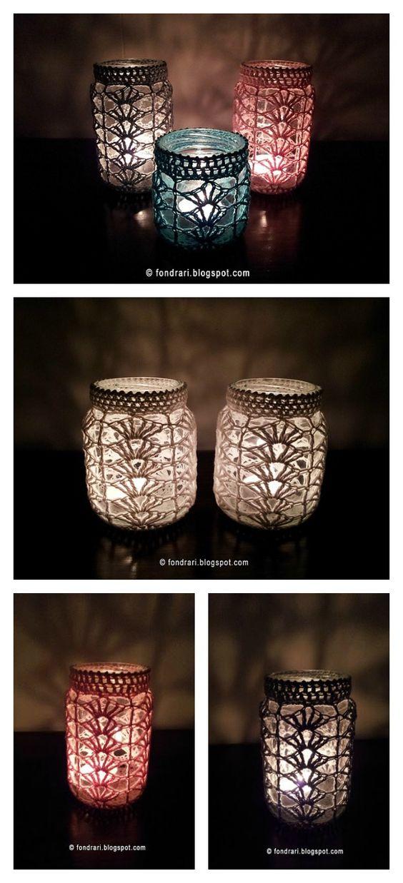 梅森罐子是完美的多功能装饰品。它们看起来更好,钩针舒适,可以用Mason Jar Cover Free Crochet Patterns制作。