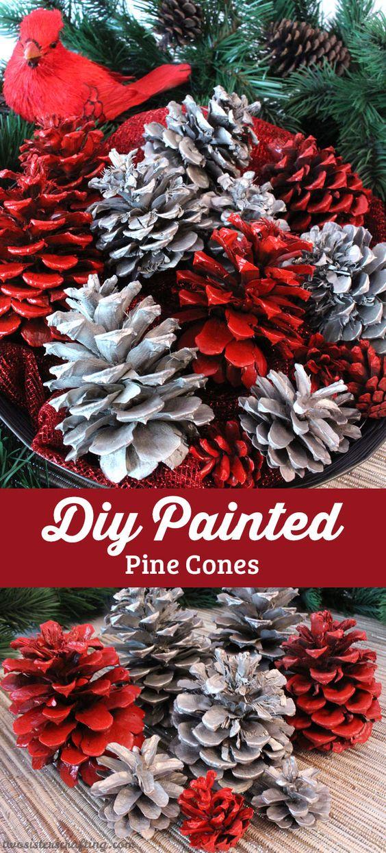 DIY彩绘松果 - 我们有你需要的所有方向,从你的院子里的松果锥转变为这些可爱和易于制作的圣诞装饰品。