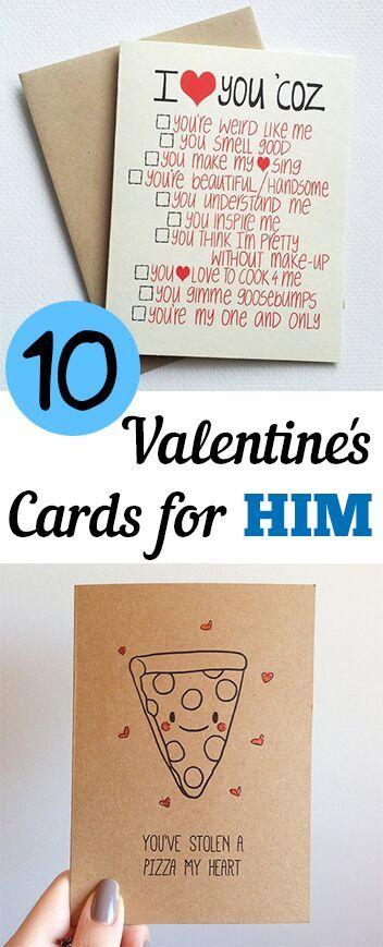 10对你生命中的男人来说,完全不是俗气的情人节贺卡。