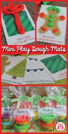 这些免费的可打印圣诞玩具面团垫为学生们提供了一个很棒的圣诞礼物,一个很好的聚会,或者是一个有趣的活动,为孩子们的圣诞派对。