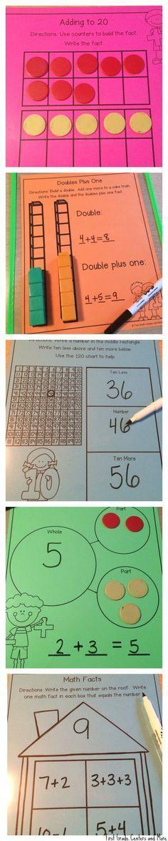 使用这些交互式数学垫让你的数学课程活起来!垫子超级好用!只需打印,放入干擦口袋,即可开始使用!该套装包括25个写字和擦垫,用于数学课程。垫子是一个完美的