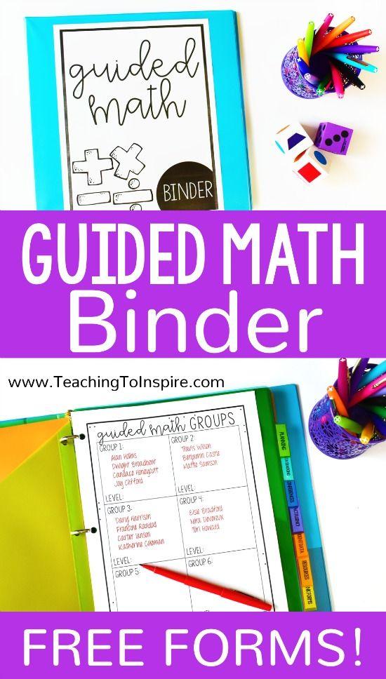 使用这些免费的指导数学活页夹形式,获得(并保持)您的导学数学教学有效组织和运行!适合3-5级。