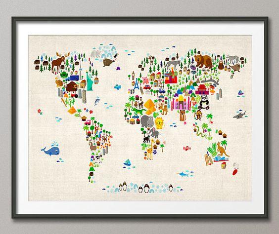 儿童和小孩的世界动物地图世界地图,包括卡通动物,着名地标和建筑物。一张色彩缤纷,有趣且令人兴奋的地图,可供任何年幼的孩子参与其想象力。不包括框架/遮罩可用尺寸显示在ADD TO CART按钮上方的SELECT A SIZE下拉菜单中其他背景颜色可供选择 - 点击下方可查看它们:http://www.etsy.com/shop/artPause/search ?search_query = animal对于BOX CANVAS和FRAMED PRINTS,请联系我以获取可用选项。这张照片是高品质半哑光240gsm纸张。特殊涂层表面增强了Ultrachrome油墨的颜色深度和对比度,保证了耐褪色的使用寿命。请注意,由于显示器设置的不同,实际颜色可能会有所不同访问artPause商店查看我的其他照片:http://www.etsy.com/shop/artpause