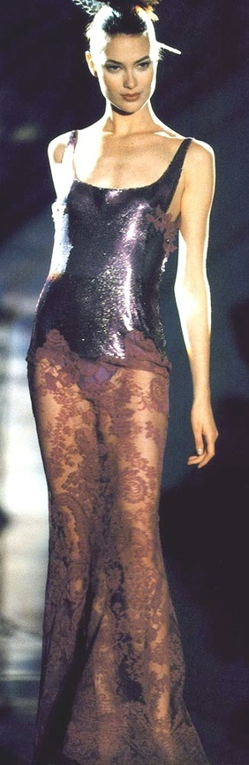 Shalom Harlow for Versace, 1996