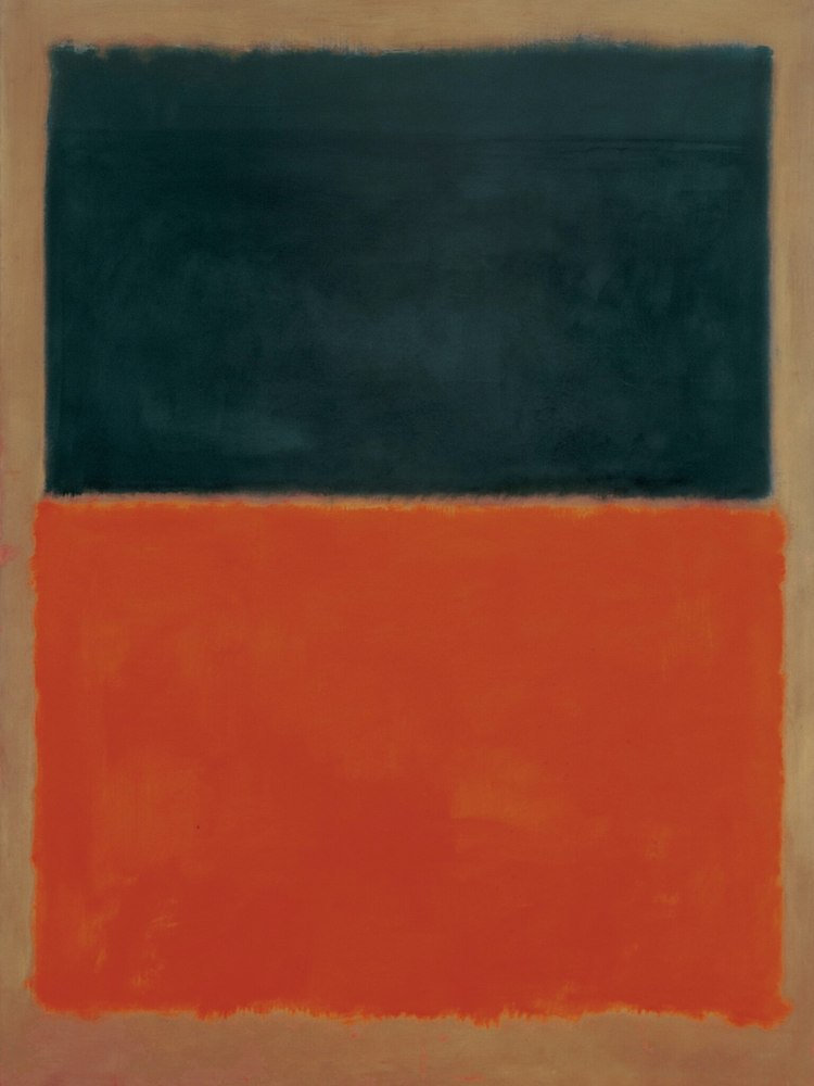 Mark Rothko - Green and Tangerine on Red