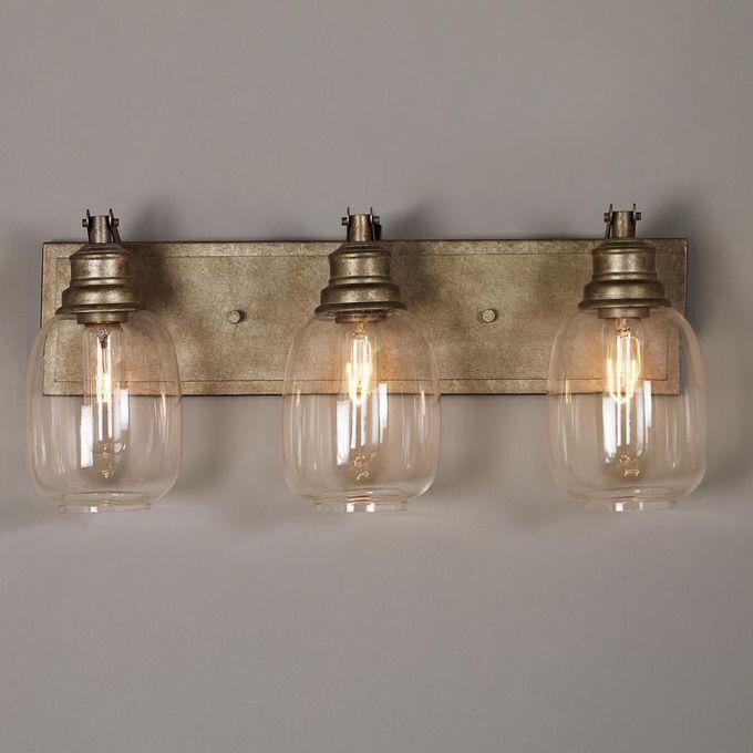 浴室 - 有2盏灯 - 工业钢浴灯 -  3灯