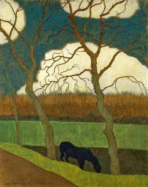 Spilliaert, Leon (Belgian, 1881-1946) -  The Mare