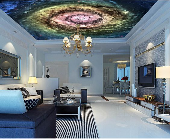 O Papel de parede para sala, O cosmos estrelado teto bar KTV murais para o quarto parede Papel de parede de vinil em Papéis de parede de Casa & jardim no AliExpress.com   Alibaba Group