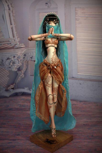 Meskhenet & Nekhebit Fine Art Porcelain BJD Dolls by Forgotten Hearts http://www.Forgotten-Hearts.com