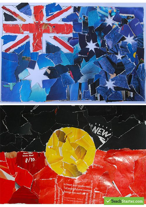 教学资源:在学习澳大利亚国庆日时使用的创意艺术活动。
