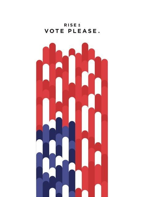 Jesse Wu's entry to Get Out the Vote, graphic design campaign for the…
