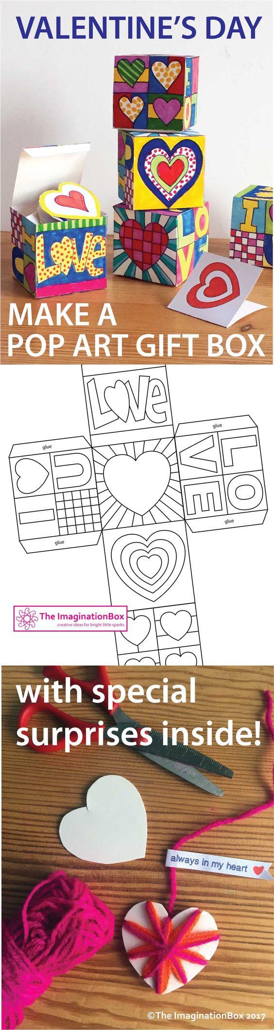 这款波普艺术礼盒是情人节或母亲节的理想艺术和工艺项目。同样它也可以在一年中的任何时候用作探索波普艺术,颜色和形状的一般艺术活动。学生们可以带回一个美丽的成品纪念礼盒,里面有一些特别的惊喜礼物和信息!这个活动包包括:1。
