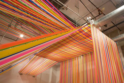 Megan Geckler--construction ribbon installation