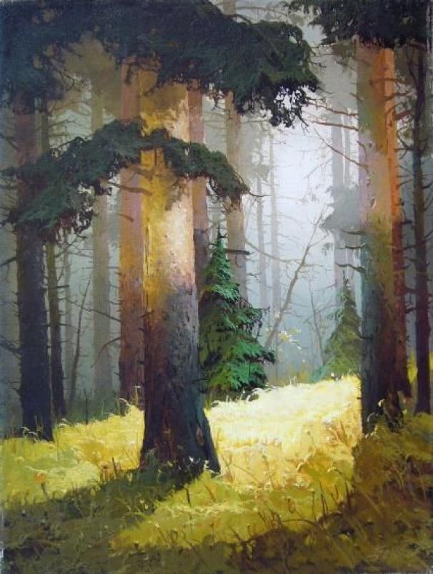 Viktor Bykov Autumn Light #landscape #tree #art