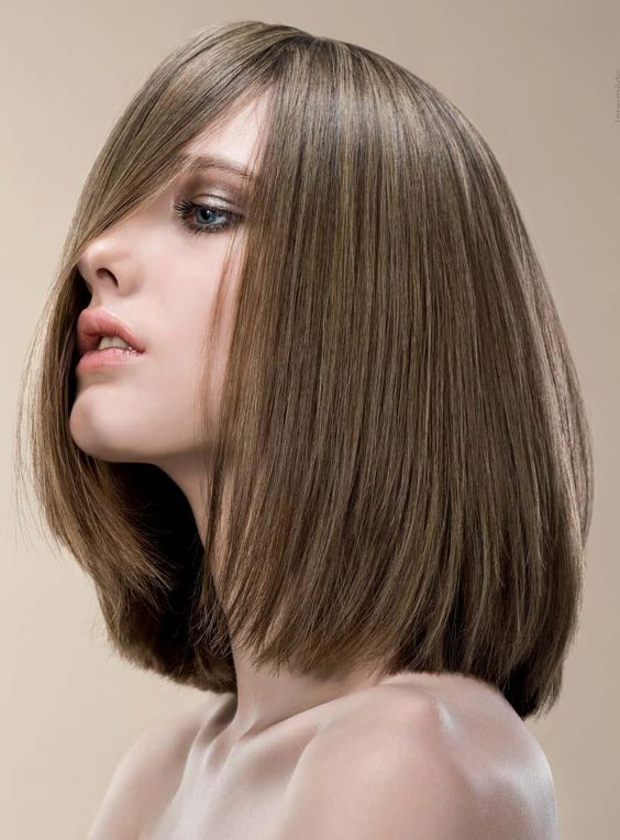 Cool Style LOB Medium Straight Synthetic Hair Lace Front Wig 12 Inches