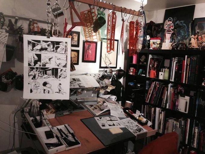 Studio of Olivier Vatine #art #artwork #illustration