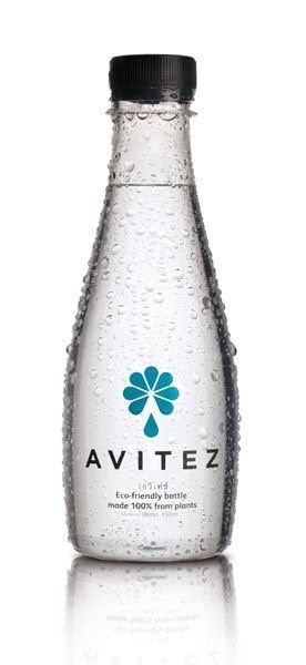 Eco-friendly mineral water bottle! This is made 100% from corn. Save oil. Save the planet.