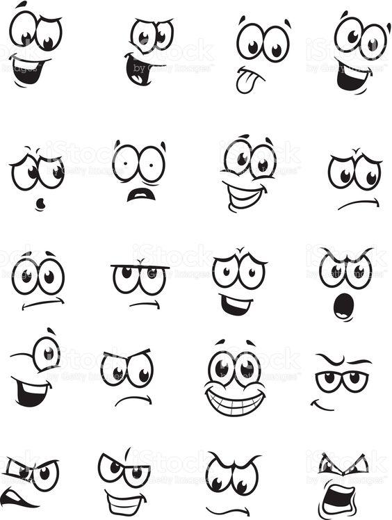 不同的表达/情感传染媒介图画。