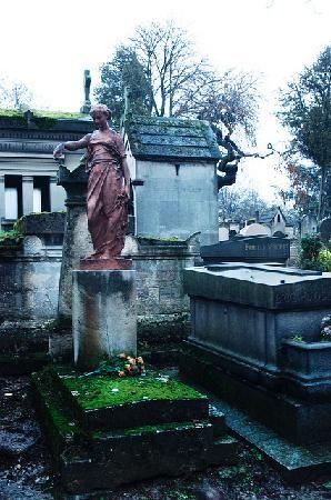 巴黎的Pere Lachaise公墓,吉姆莫里森被埋葬了许多其他名人